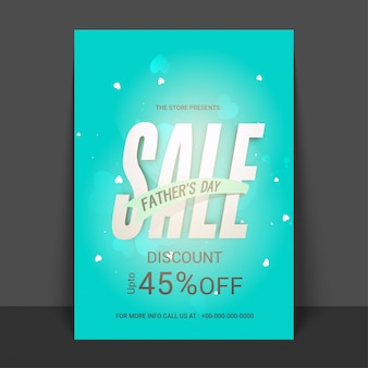Sprzedaż ojcowska z rabatem w wysokości 45%, promocyjnym i rabatowym, projektem bannera, ulotki lub plakatu.