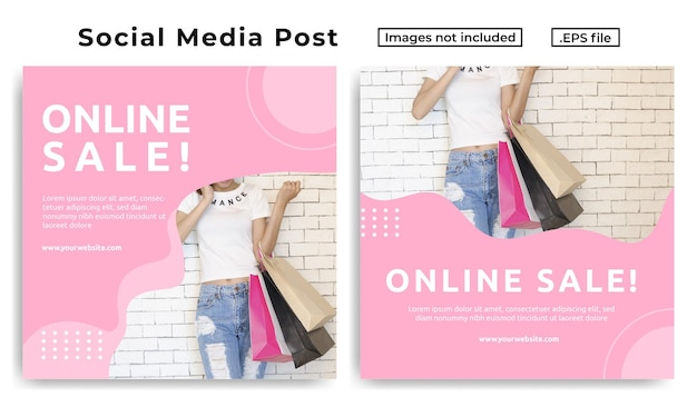 Sprzedaż online szablon postu w mediach społecznościowych 1