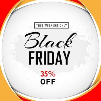 Sprzedaż plakatu czarny piątek na tle fali