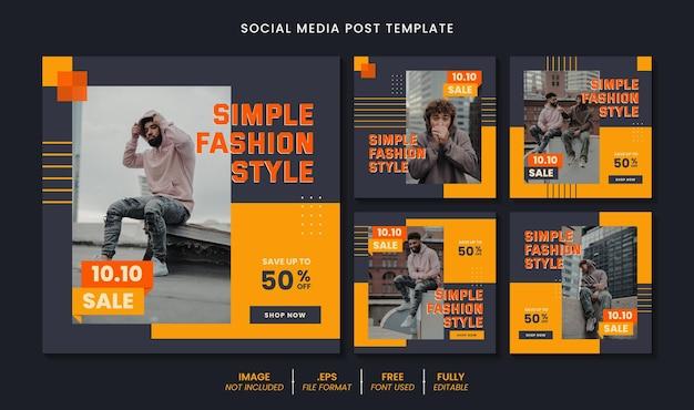 Sprzedaż postu w mediach społecznościowych lub koncepcji projektu szablonu banera internetowego