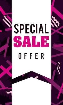 Sprzedaż, promocje i zniżki na ulotki i banery