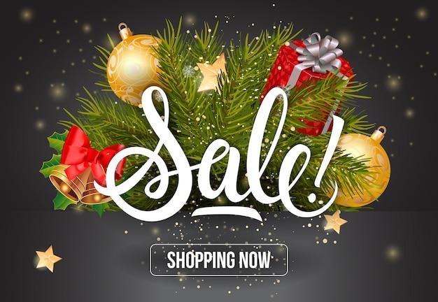 Sprzedaż shopping now lettering