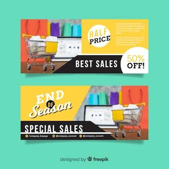 Sprzedaż streszczenie transparent z kolekcji zdjęć