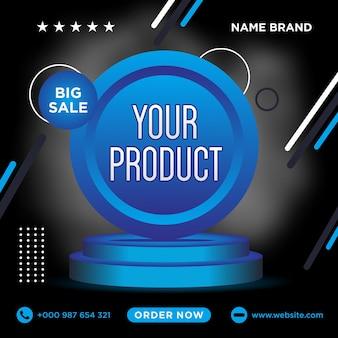Sprzedaż szablon postów w mediach społecznościowych premium vector