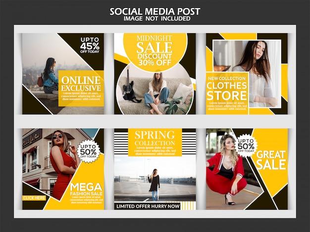 Sprzedaż szablonu postu instagram