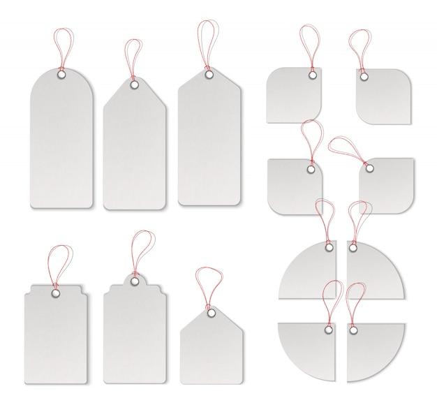 Sprzedaż tagi i etykiety wektor zestaw szablonów