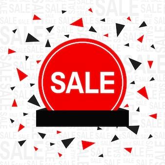 Sprzedaż tło z trójkątów