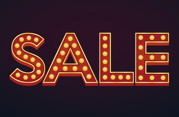 Sprzedaż transparent alfabet znak markiza żarówki vintage