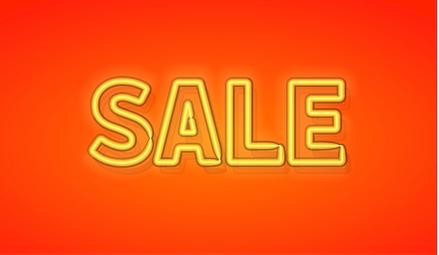 Sprzedaż transparentu neon