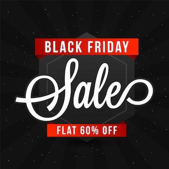 Sprzedaż w black friday, projekt banner lub flyer.