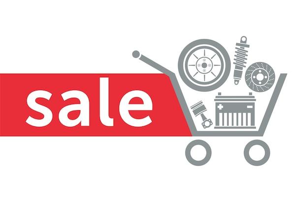 Sprzedaż w sklepie z częściami samochodowymi