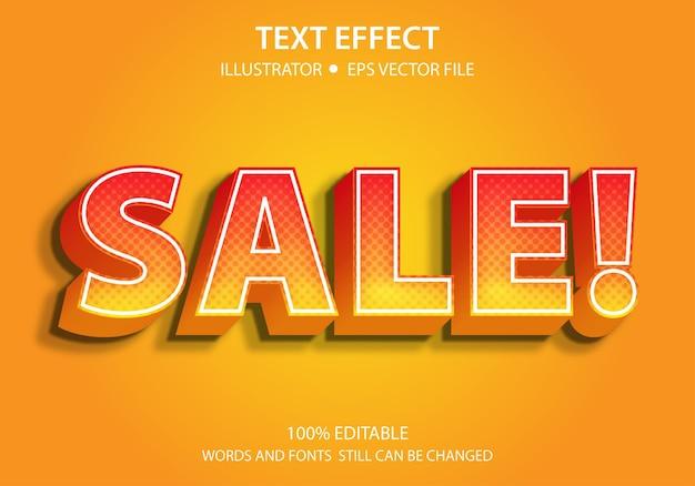 Sprzedaż z efektem edytowalnego stylu tekstu