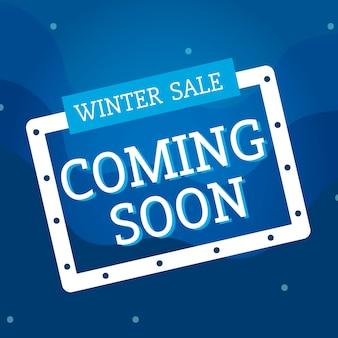 Sprzedaż zimowy wkrótce wektor