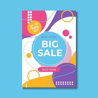 Sprzedaż zniżki - ilustracja koncepcja układu wektor. streszczenie banner promocji reklamy. twórcze tło. oferta specjalna. kupuj teraz. elementy projektu graficznego.