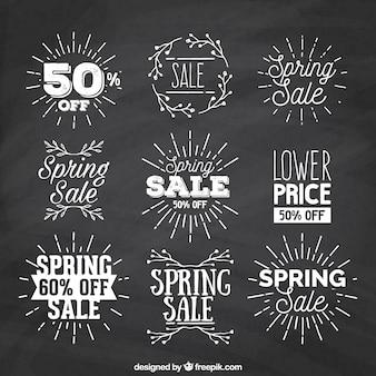 Sprzedaży etykiety sunburst wiosenne