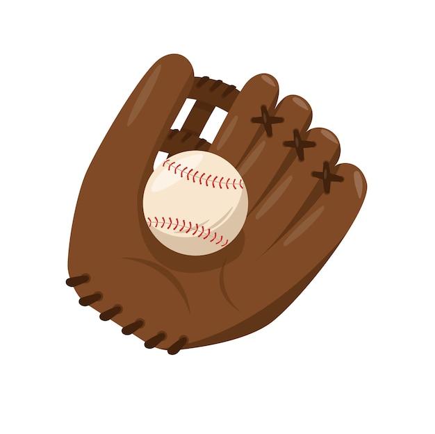 Sprzęt do baseballu skórzana brązowa rękawica do łapania z piłką