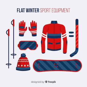 Sprzęt do sportów zimowych płaski