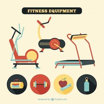 Sprzęt fitness w stylu retro