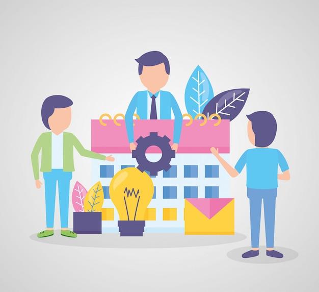 Sprzęt kalendarza ludzi biznesu