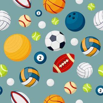 Sprzęt sportowy płaski wektor kolorowy wzór
