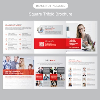 Square tri-fold prospekty reklamowe