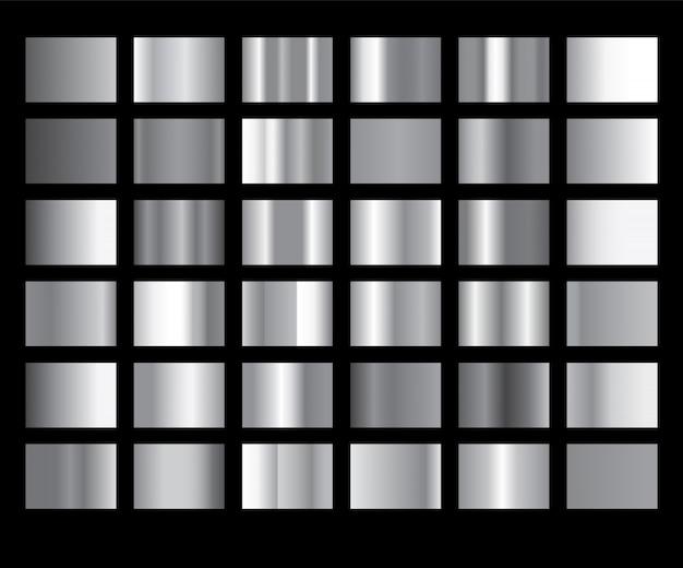 Srebnej gradientowej tło ikony tekstury kruszcowa ilustracja.