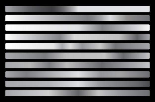 Srebrna kolekcja gradientowa, zestaw tekstur