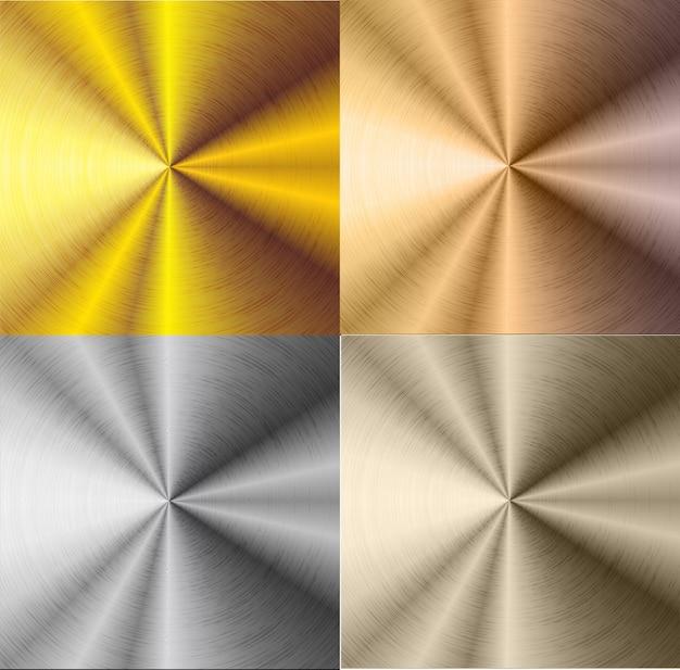Srebrne i złote stalowe tło gradientowe