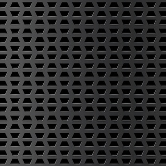 Srebrne tło metalowe z otworem i odbiciem. realistyczna chromowana siatka. przemysłowa teksturowana powierzchnia. stalowa tabliczka. ilustracja