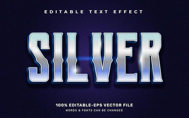 Srebrny efekt tekstowy, edytowalny styl czcionki