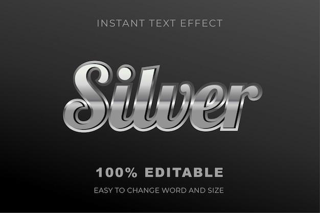 Srebrny efekt tekstowy