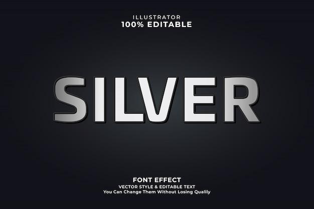 Srebrny minimalny efekt tekstowy