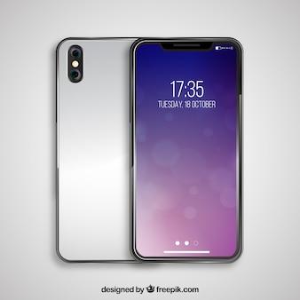 Srebrny smartfon