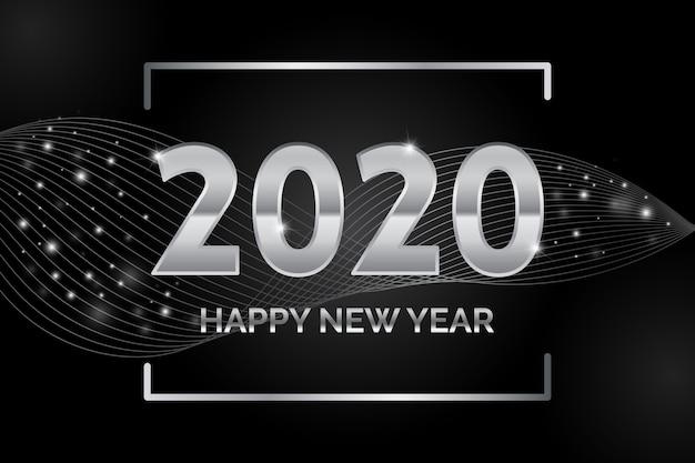 Srebrny szczęśliwego nowego roku 2020