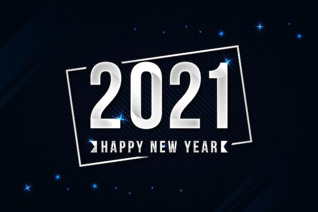 Srebrny szczęśliwego nowego roku 2021