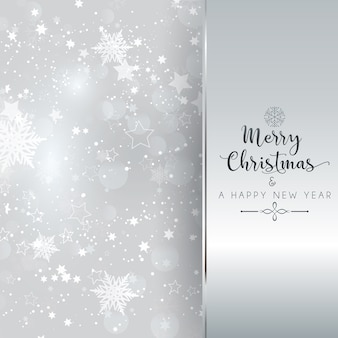 Srebrny tło boże narodzenie i nowy rok