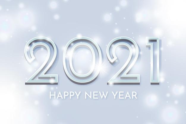 Srebrny tło nowego roku 2021