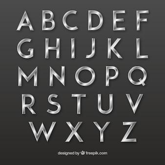 Srebrny typografia