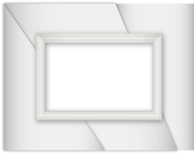 Srebro realistyczne ramki na białym tle
