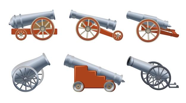 Średniowieczna armata w stylu cartoon. ilustracja