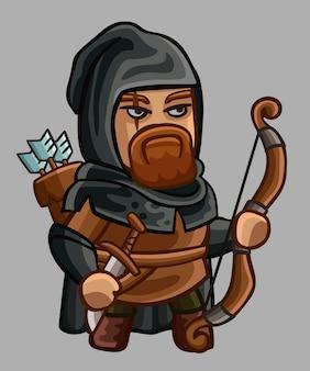 Średniowieczna postać z kokardą