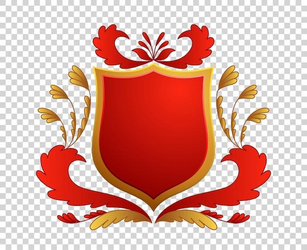 Średniowieczna tarcza. herby. król i królestwo.