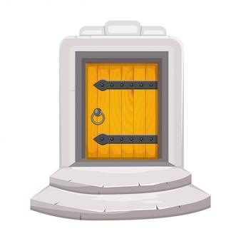 Średniowieczne drewniane drzwi