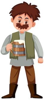 Średniowieczne męskie postacie z kreskówek historycznych