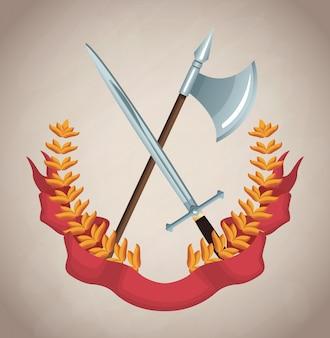 Średniowieczny emblemat armii