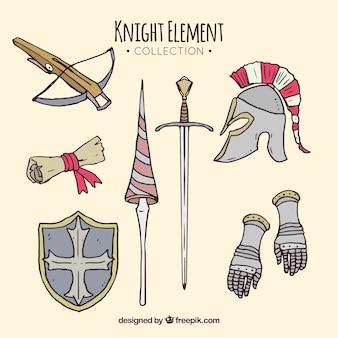 Średniowieczny pakiet ręcznie rysowanych elementów