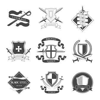 Średniowieczny zbiór insygnia