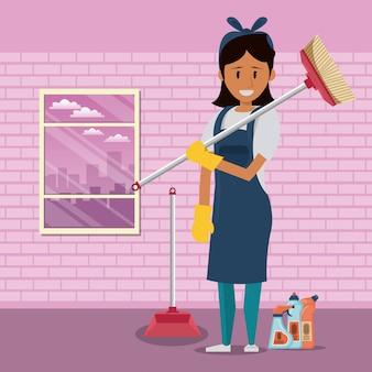 Środek czyszczący z produktami do sprzątania