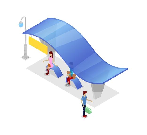 Śródmieście przystanek izometryczny 3d