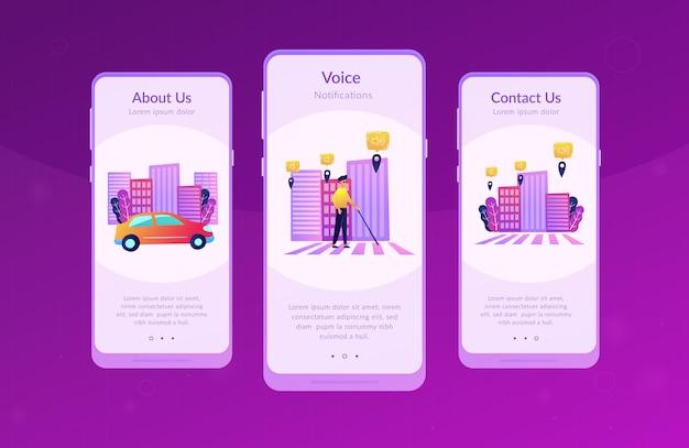Środowisko bez barier i szablon interfejsu inteligentnego miasta aplikacji.